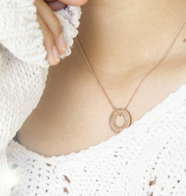 "NECKLACE/ large rosegolden glossy ""MADE WITH LOVE BY VIENNINA"" / N*FINITY"