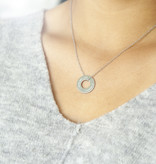"NECKLACE / large  silver matt/ ""MADE WITH LOVE BY VIENNINA"" /  N*FINITY"
