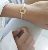 """BRACELET/ large rosegolden glossy/""""MADE WITH LOVE BY VIENNINA""""/ N*FINITY"""