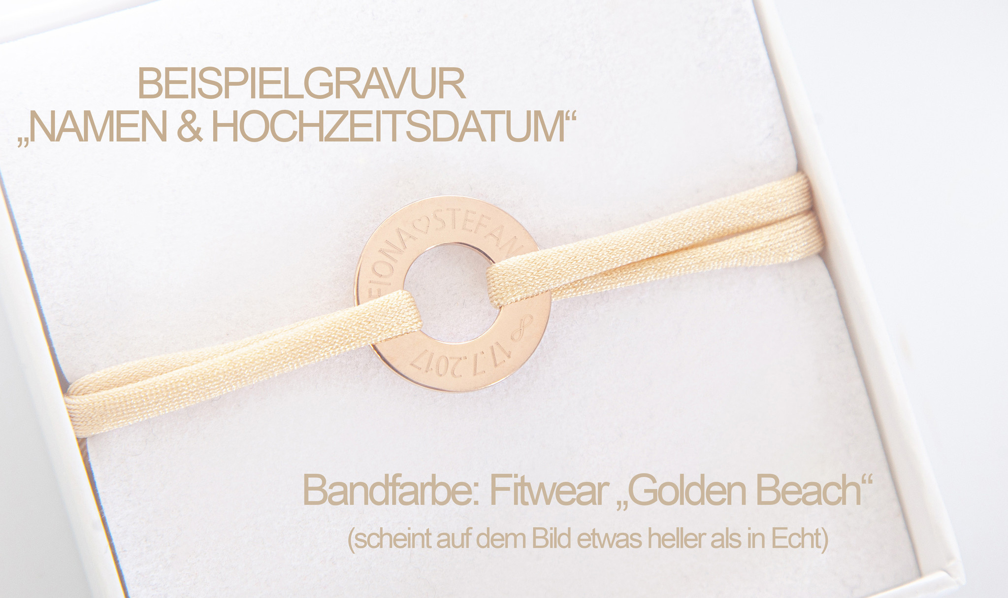 PERSÖNLICHE GRAVUR / ARMBAND/ groß  rosegold glossy/ N*FINITY