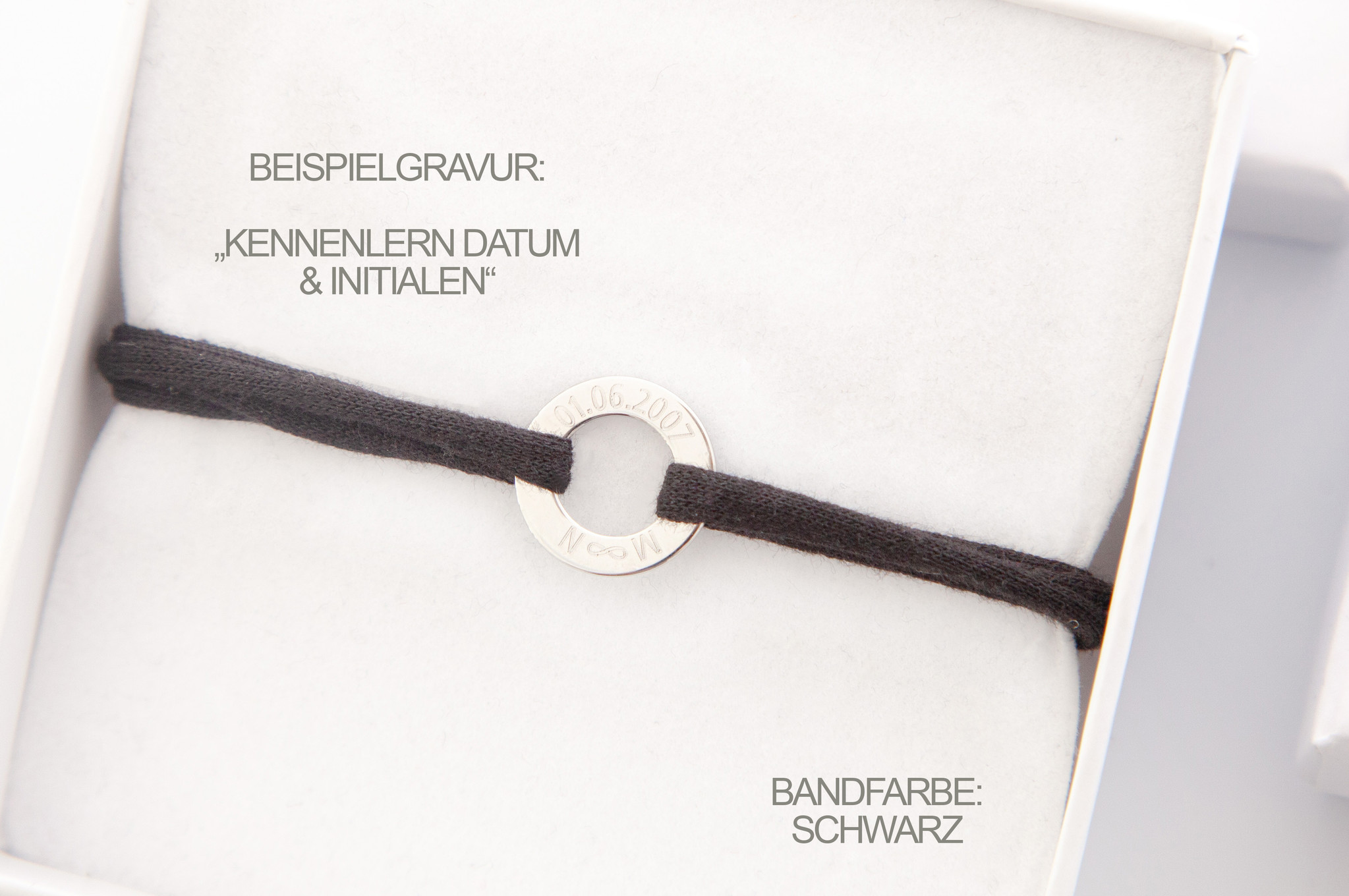 PERSONALIZATION/ BRACELET /small silver glossy / N*FINITY