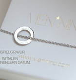 PERSONALIZATION/ NECKLACE/ small silver glossy/ N*FINITY