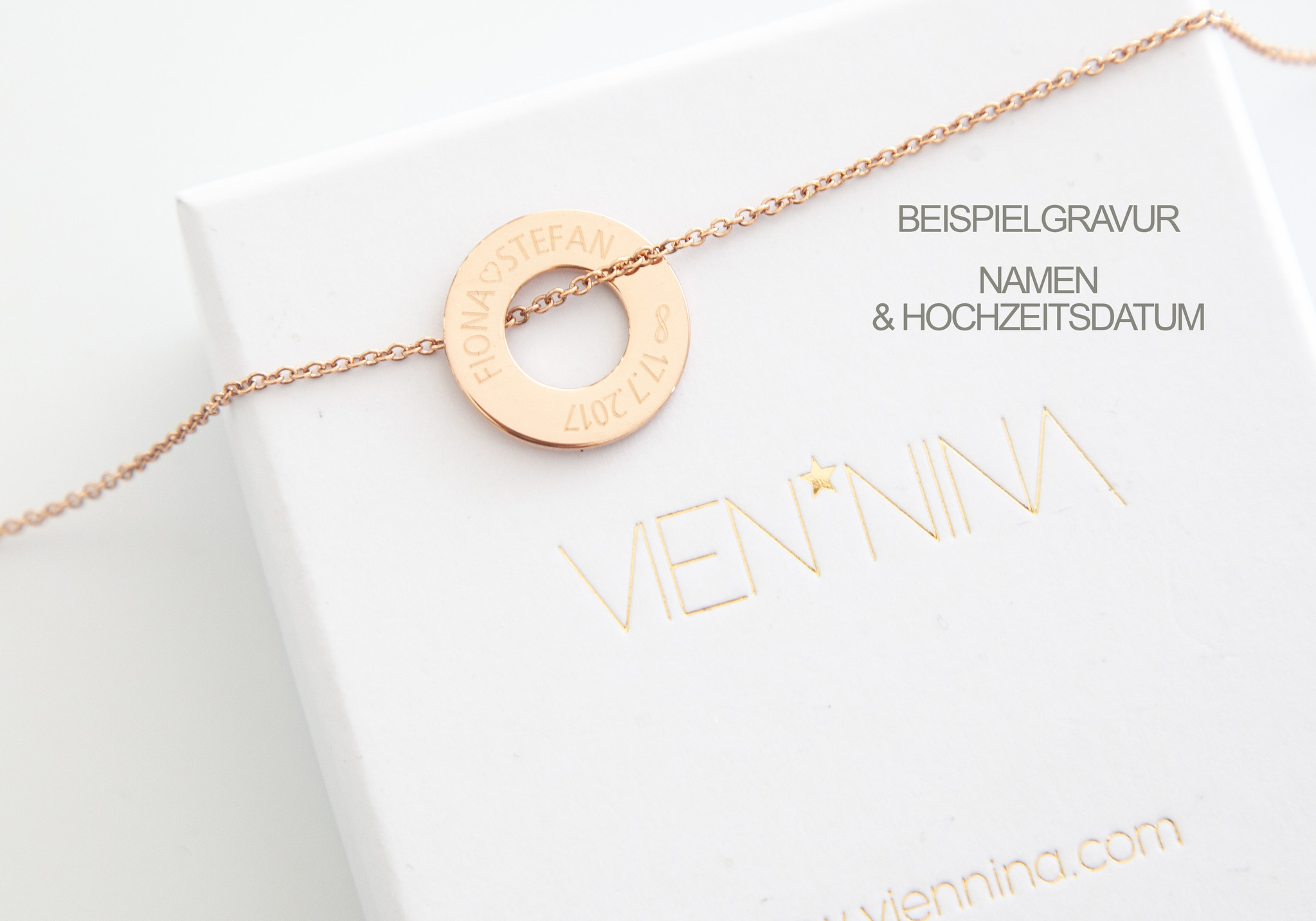 PERSONALIZATION / NECKLACE/ large rosegolden glossy / N*FINITY