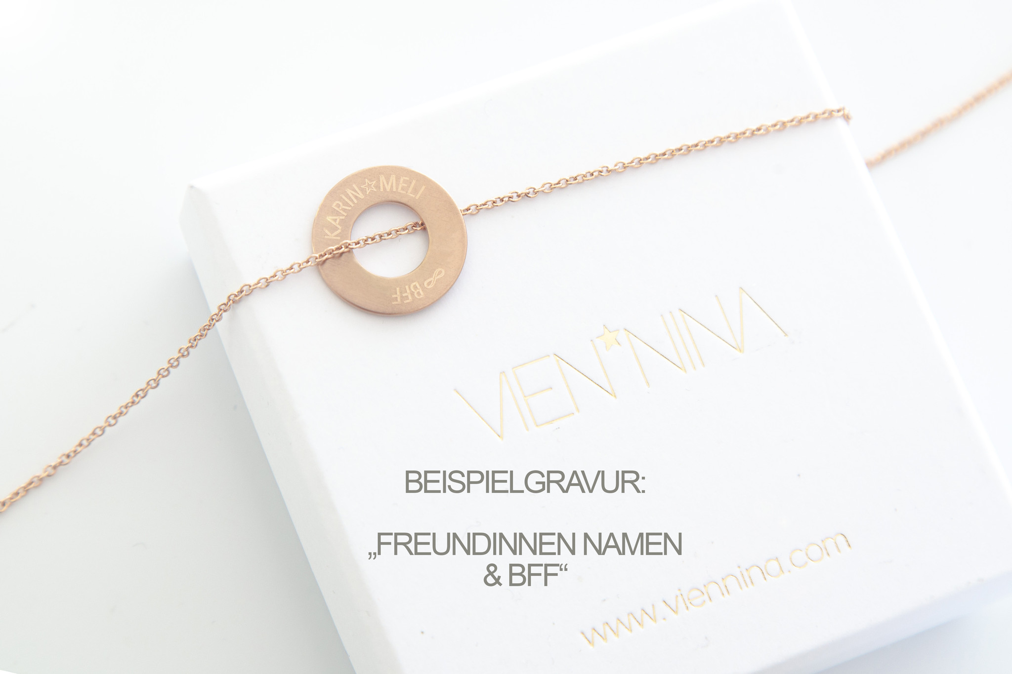 PERSONALISIEREN / HALSKETTE/ groß rosegold matt /N*FINITY
