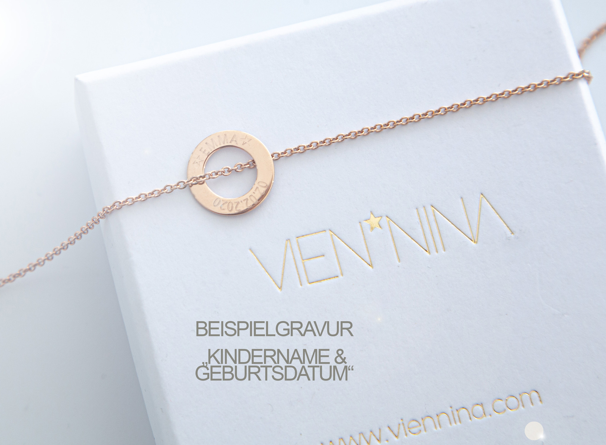 PERSONALIZATION / NECKLACE  rosegolden glossy SMALL / N*FINITY