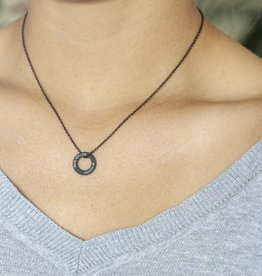 """NECKLACE/ small black matt /""""MADE WITH LOVE BY VIENNINA"""" / N*FINITY"""