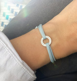 "BRACELET/ small silver glossy /  ""MADE WITH LOVE BY VIENNINA""/ N*FINITY"