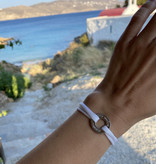 "ARMBAND / groß silber glossy/  ""MADE WITH LOVE BY VIENNINA"" / N*FINITY"