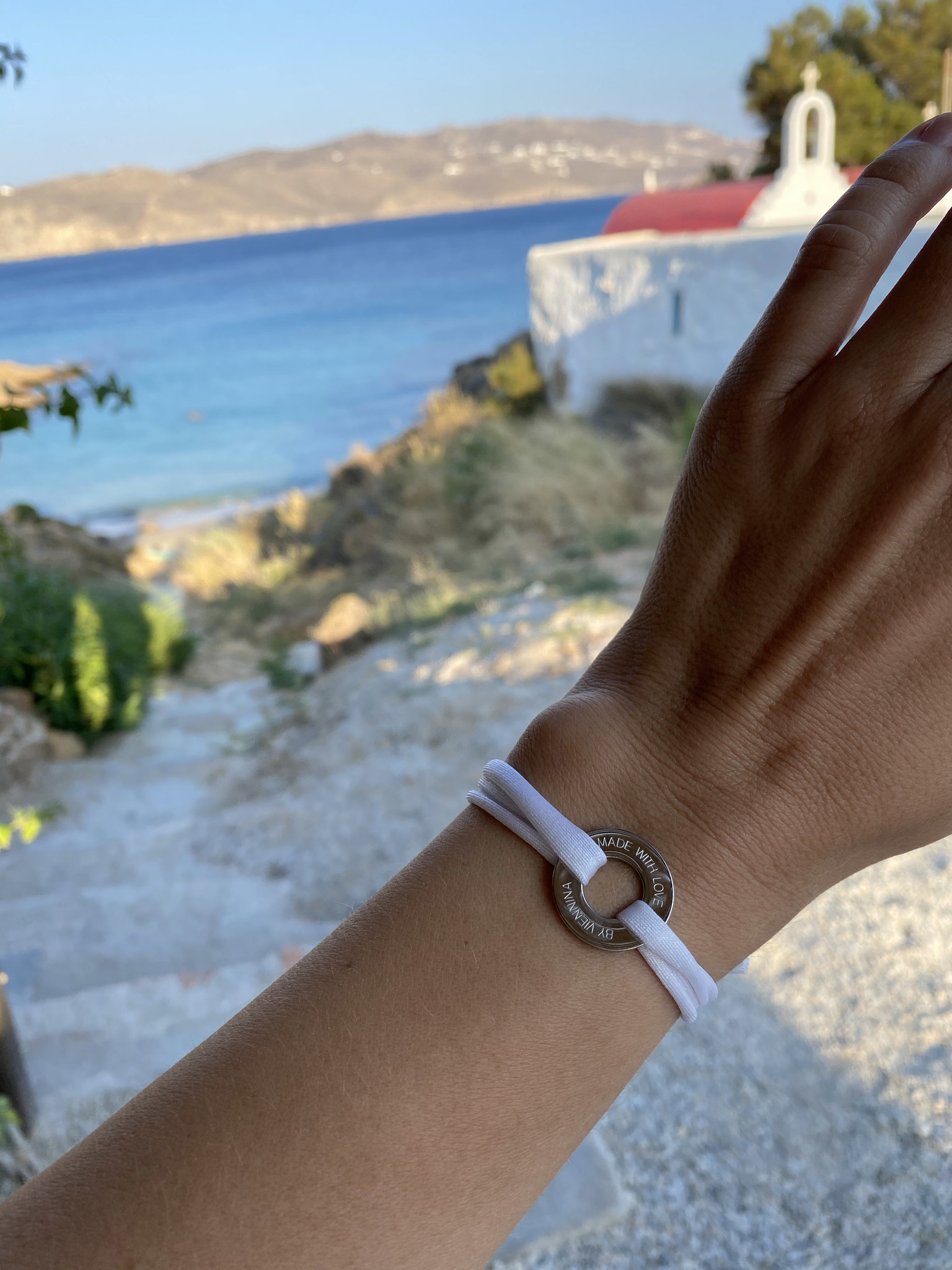 """BRACELET/ large silver glossy/ """"MADE WITH LOVE BY VIENNINA"""" / N*FINITY"""