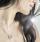"NECKLACE / large  silver glossy/ ""MADE WITH LOVE BY VIENNINA"" / N*FINITY"