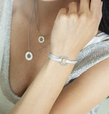 "BRACELET/ large silver glossy/ ""MADE WITH LOVE BY VIENNINA"" / N*FINITY"