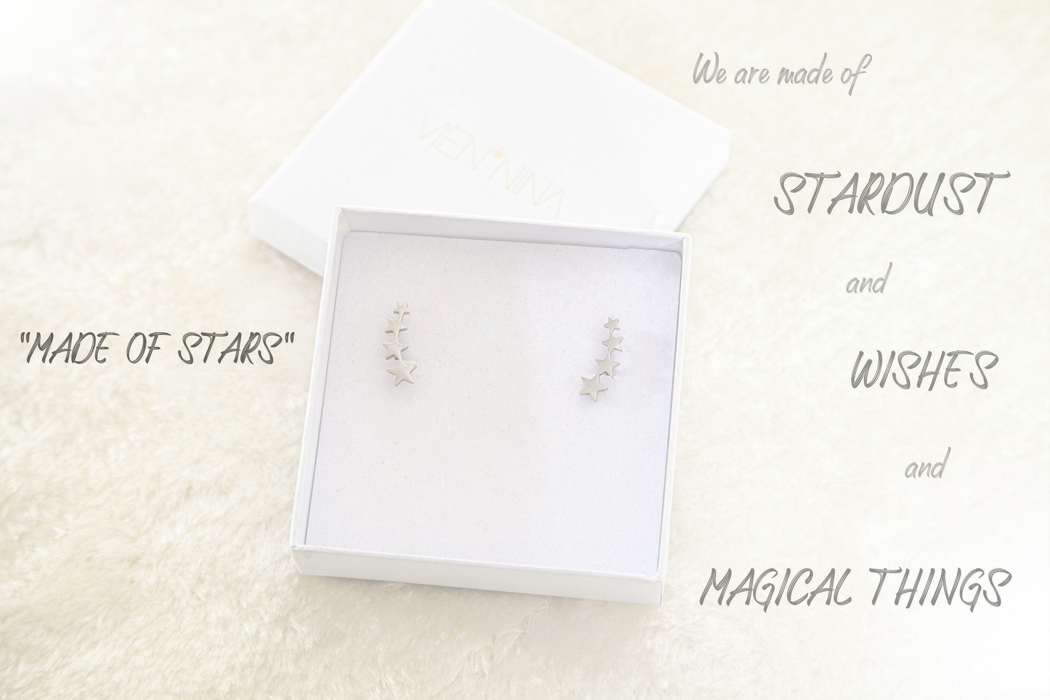 """EARRINGS """"MADE OF STARS"""" silver glossy"""