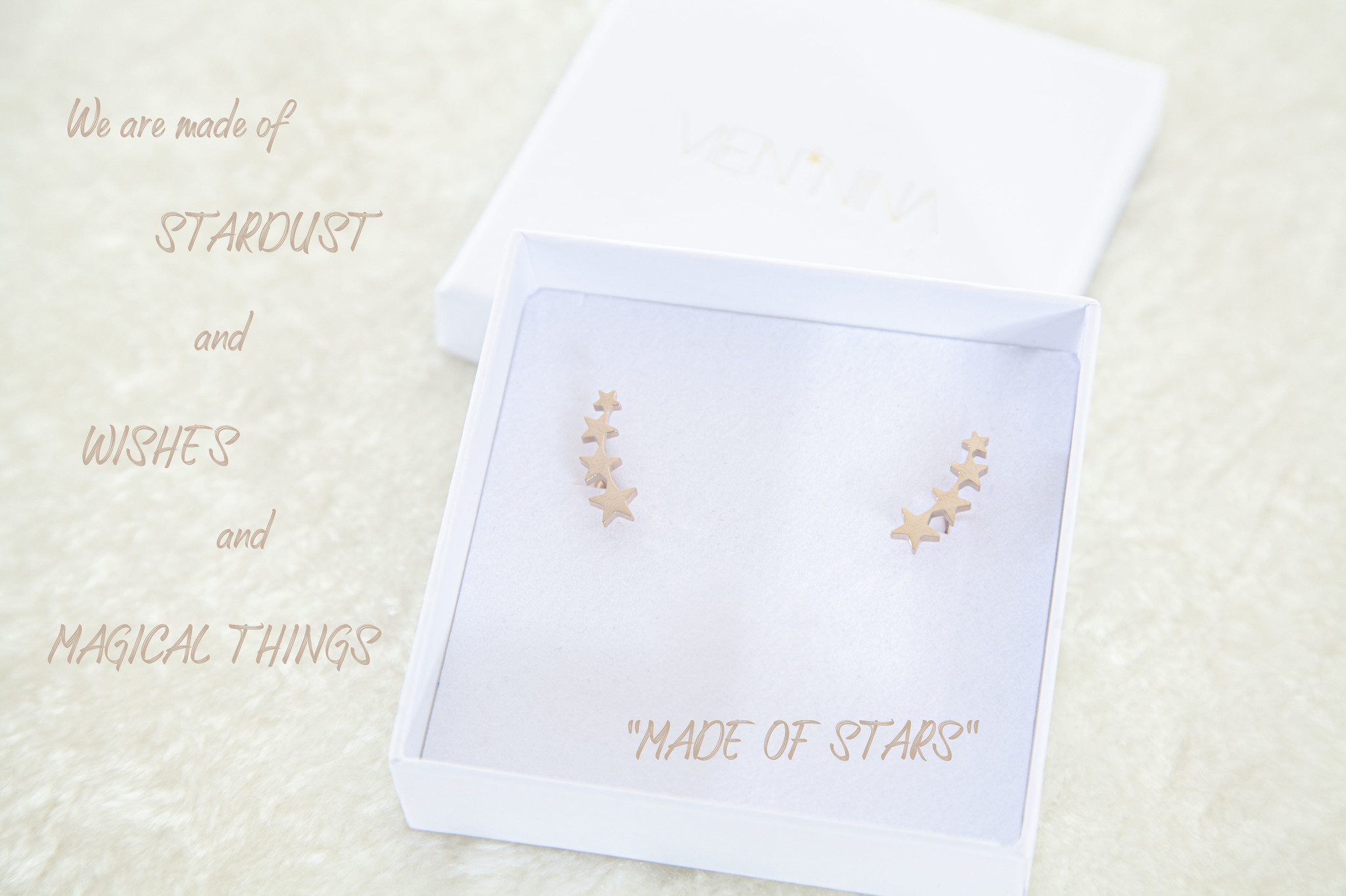 "OHRRINGE ""MADE OF STARS"" rosegold glossy"