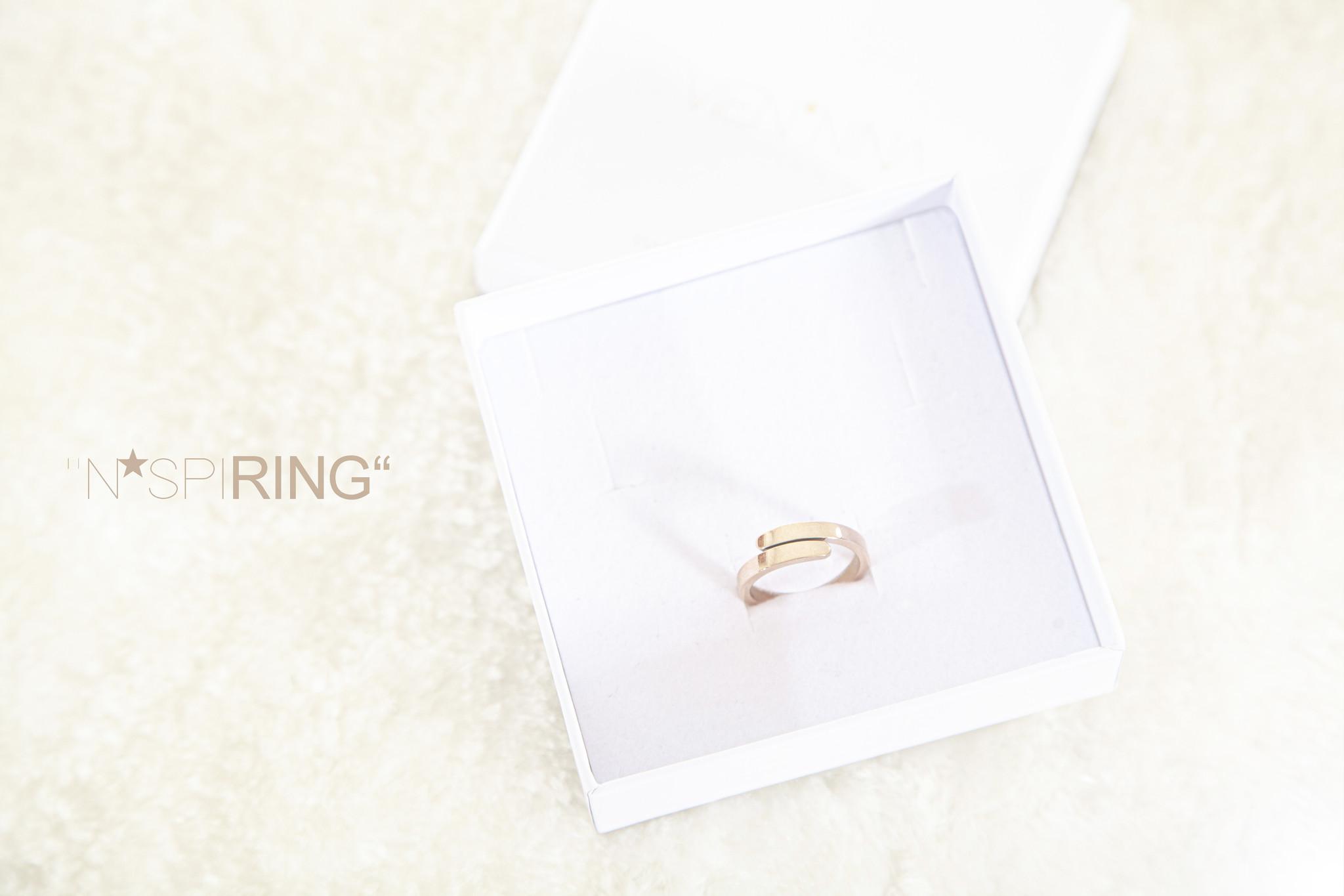 RING / N*SPIRING rosegolden glossy