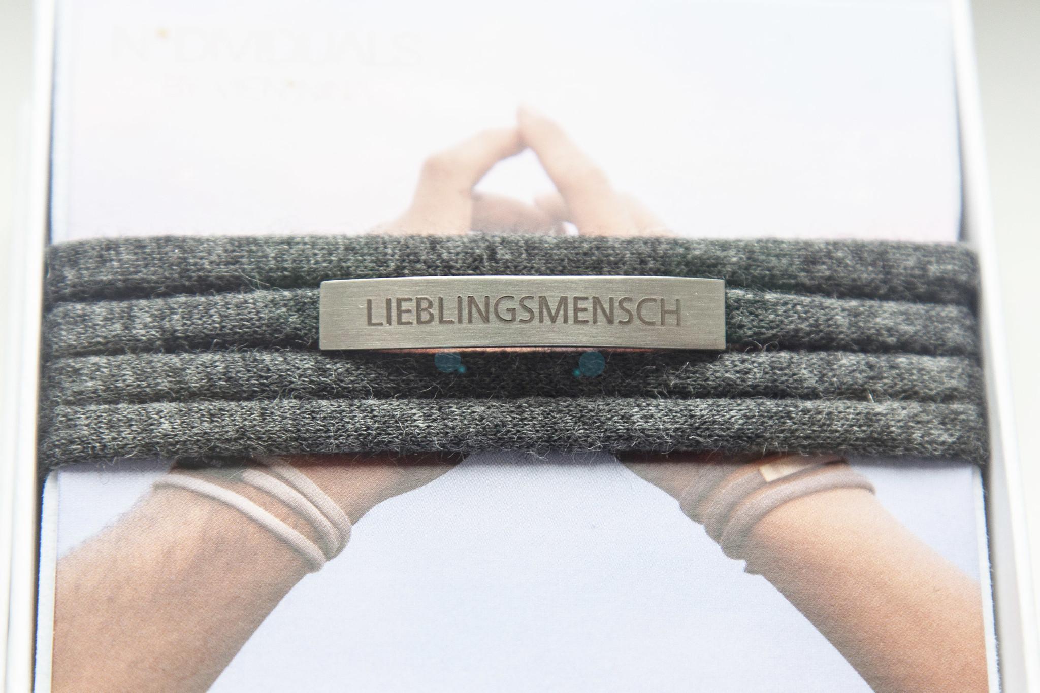 """""""LIEBLINGSMENSCH"""" silber matt / N*dividual"""