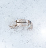 RING with ENGRAVEMENT / N*SPIRING rose glossy