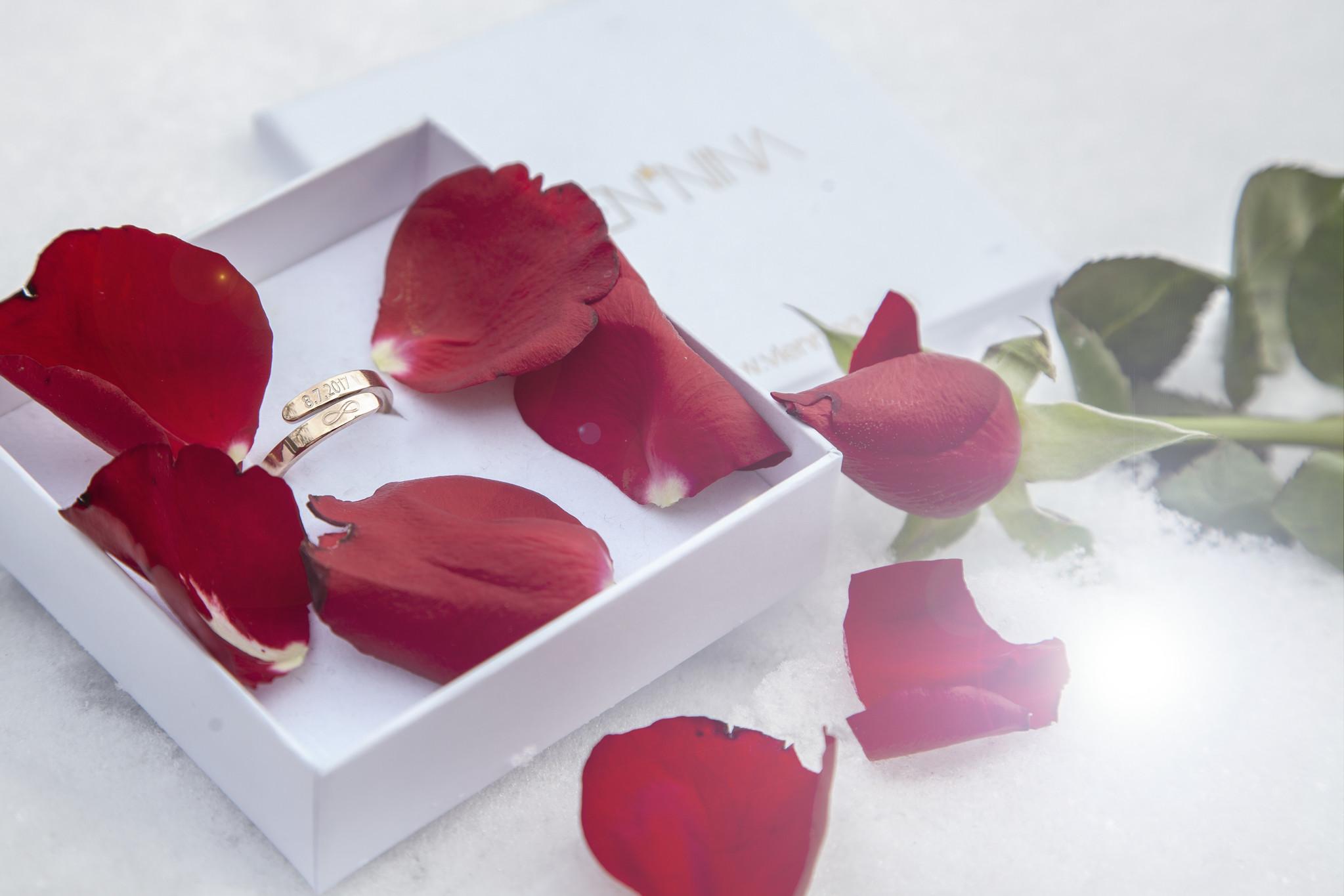 RING mit GRAVUR / N*SPIRING rose glossy