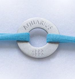 """AQUARIUS"" / N*FINITY  BRACELET/ large silver matt"
