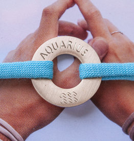 """AQUARIUS"" N*FINITY BRACELET/ large silver matt"