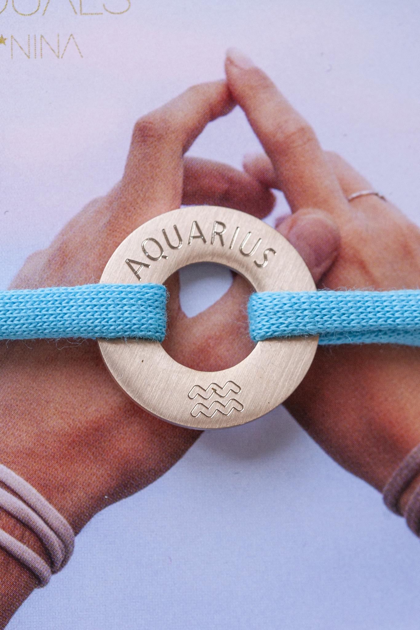 """AQUARIUS"" N*FINITY BRACELET/ large silver matt"