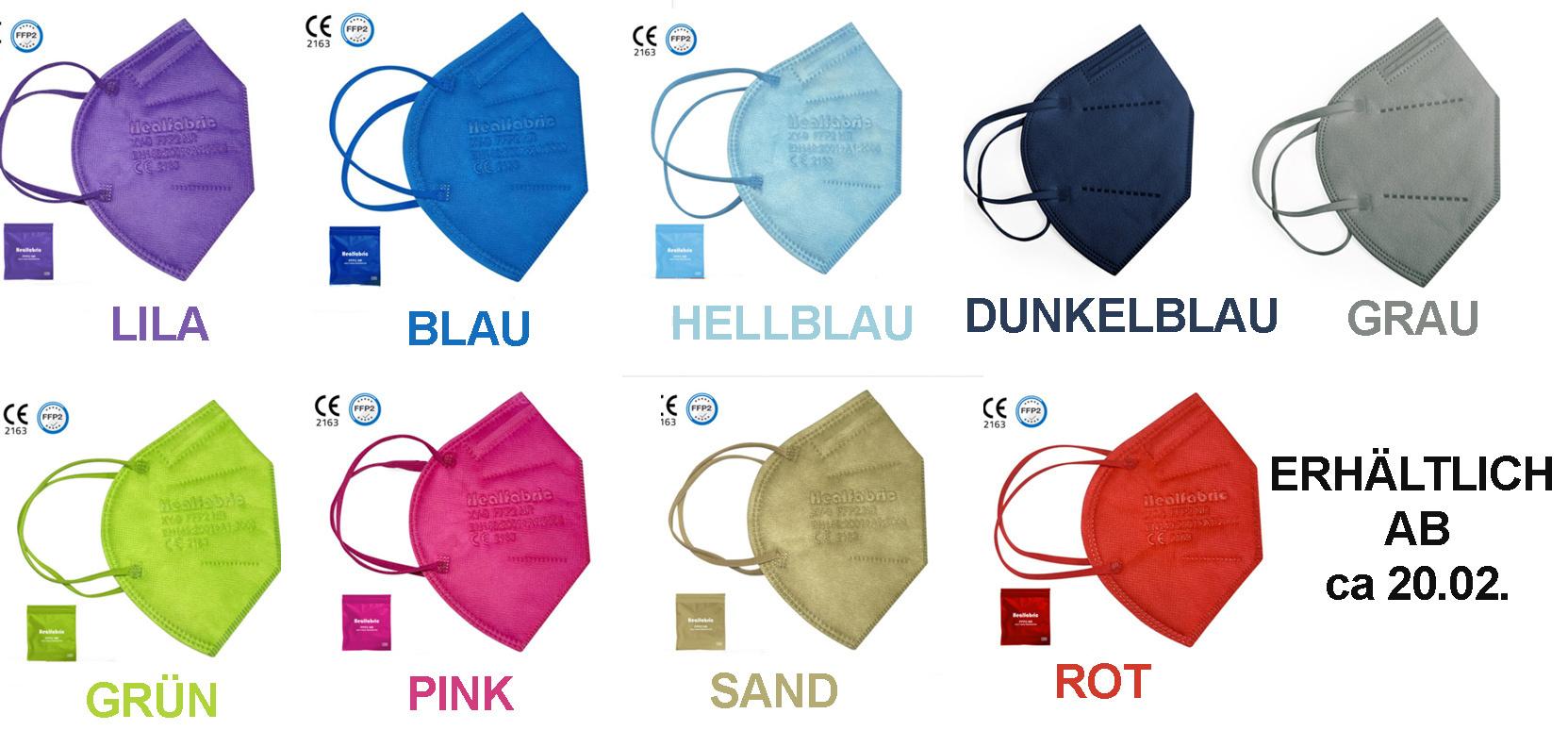 """10er Set: FFP2 Maske """"Hellblau"""""""