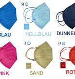 """5er Set: FFP2 Maske """"Hellblau"""""""