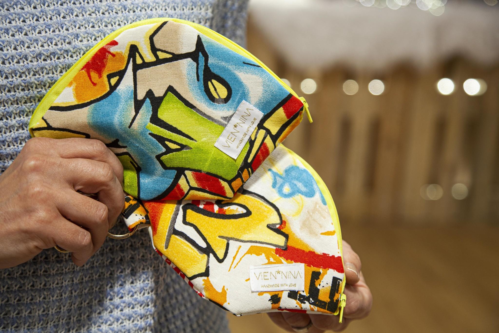 """Handmade Bag for masks """"GRAFFITI"""""""