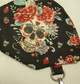 "Handmade Bag for masks ""FRIDA BLACK"""