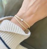 """N*ITIAL  Bracelet """"D"""" silver"""