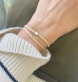 """N*ITIAL  Bracelet """"W"""" silver"""