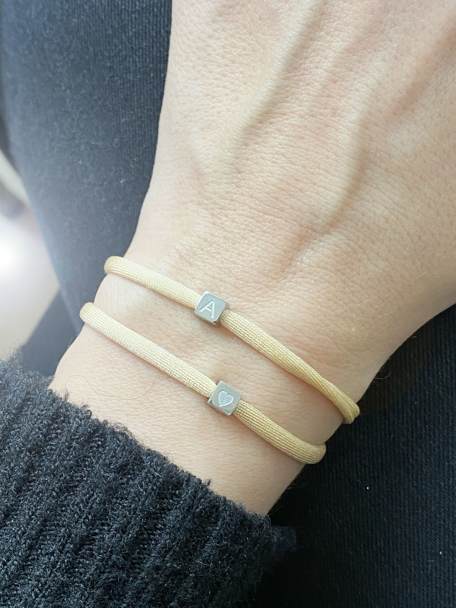 N*ITIAL Bracelet with 2 cubes