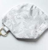 "Handmade Bag for masks  ""JACQUARD LIGHT GREY"""