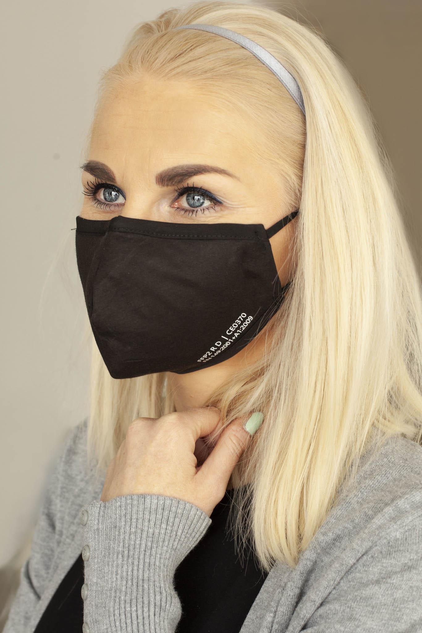 !NEU! wiederverwendbare Nano-FFP2-Maske /SCHWARZ