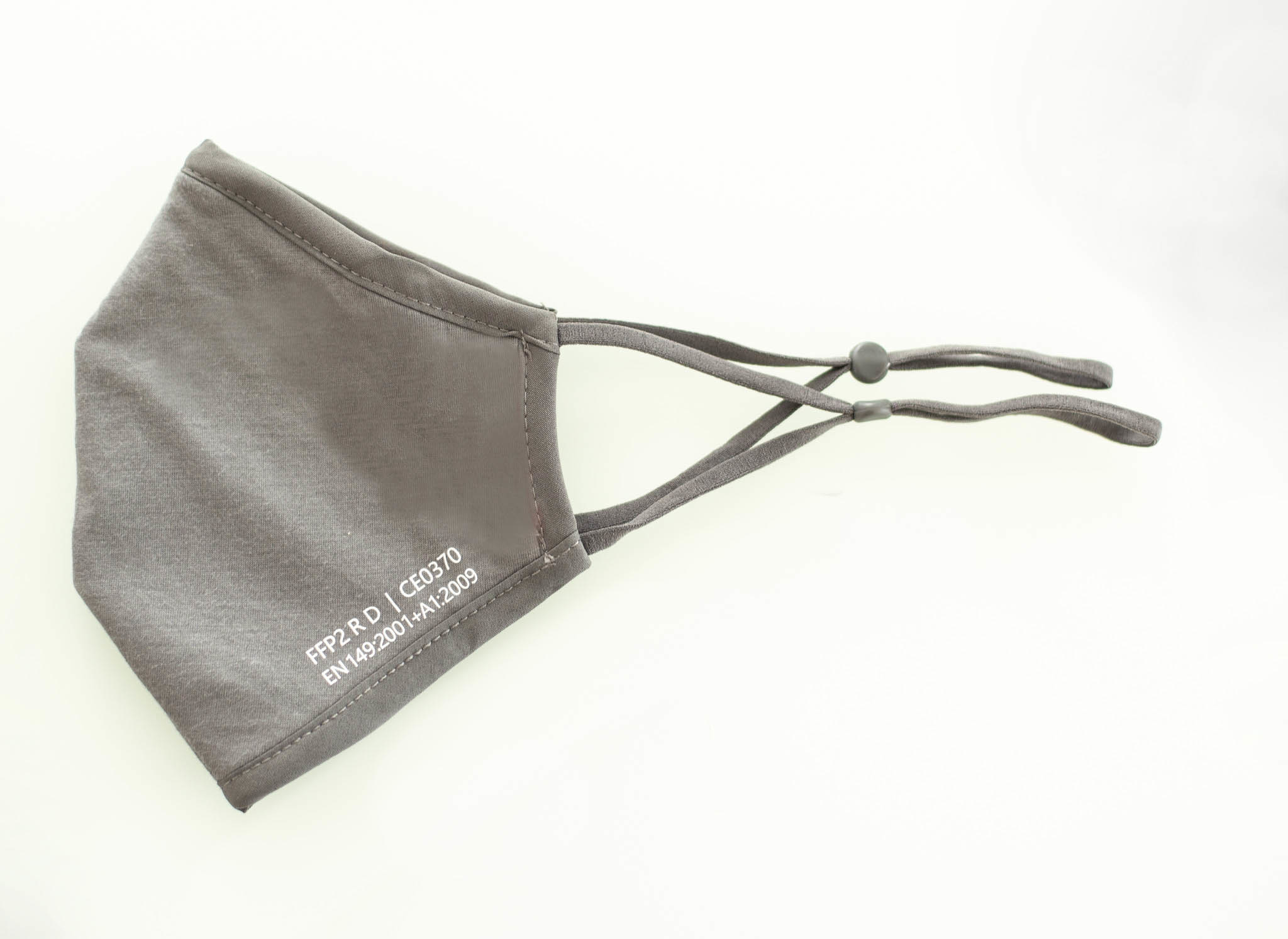 5 Stück handwaschbare Nano-FFP2-Masken /GRAU