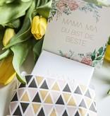 """BESTE MAMA"" N*FINITY BRACELET/ large rose matt"