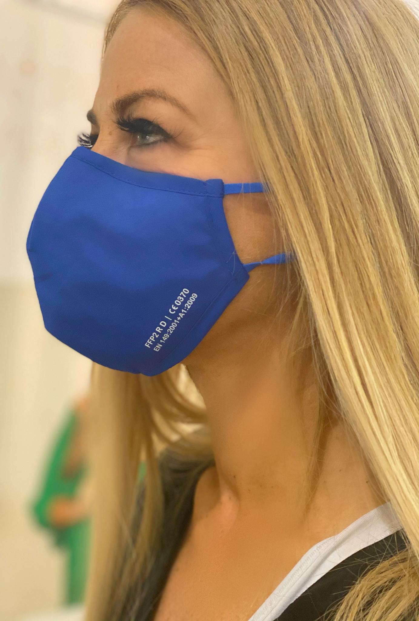 !NEU! wiederverwendbare Nano-FFP2-Maske /MITTELBLAU