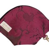 "Handmade Bag for masks  MASKENTASCHE ""JACQUARD BERRY"""