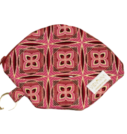 """Handmade Bag for masks """"AFRICAN PINK"""""""