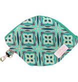 "Handmade Bag for masks ""AFRICAN GREEN"""