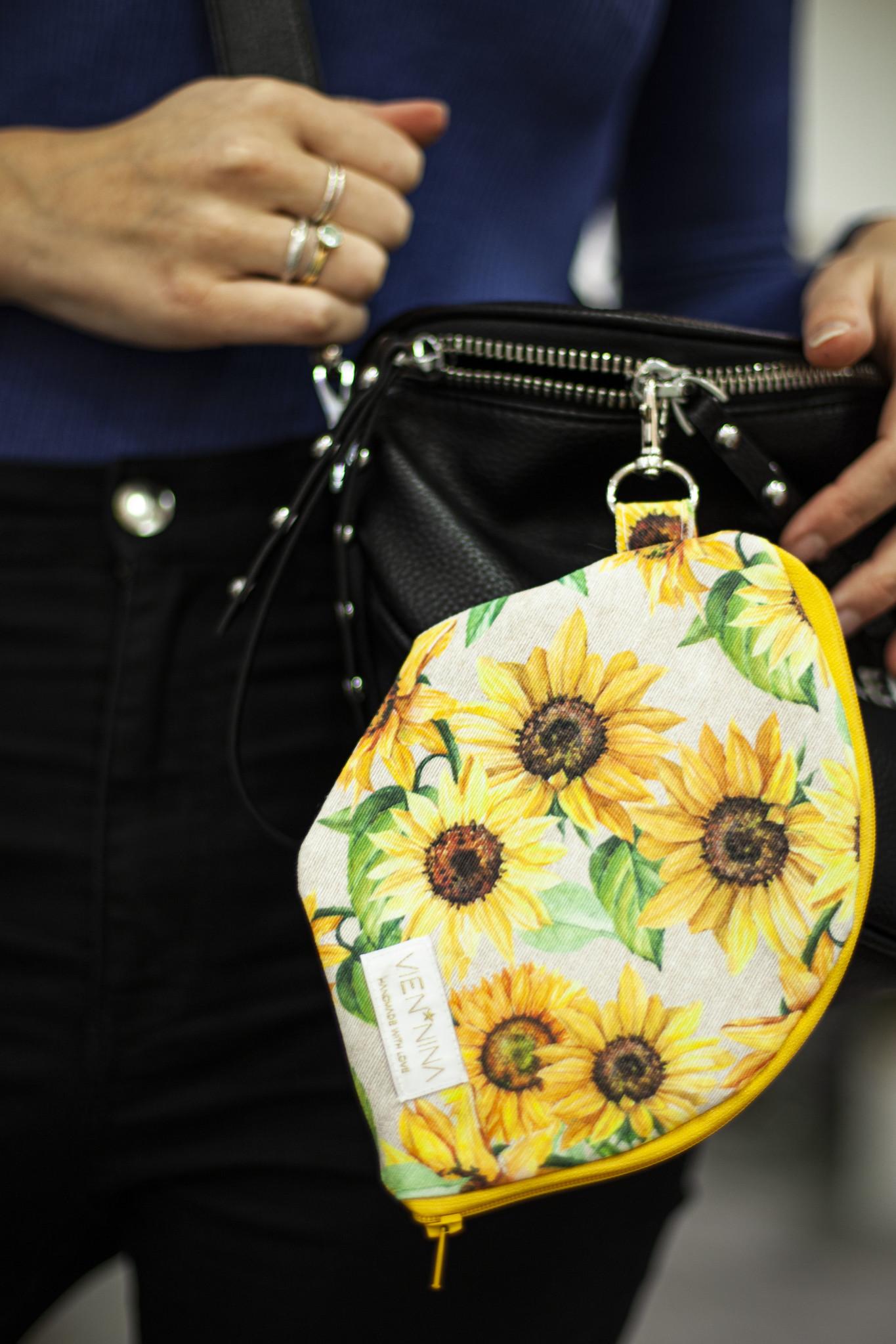 """Handmade Bag for masks  """"SUNFLOWER"""""""