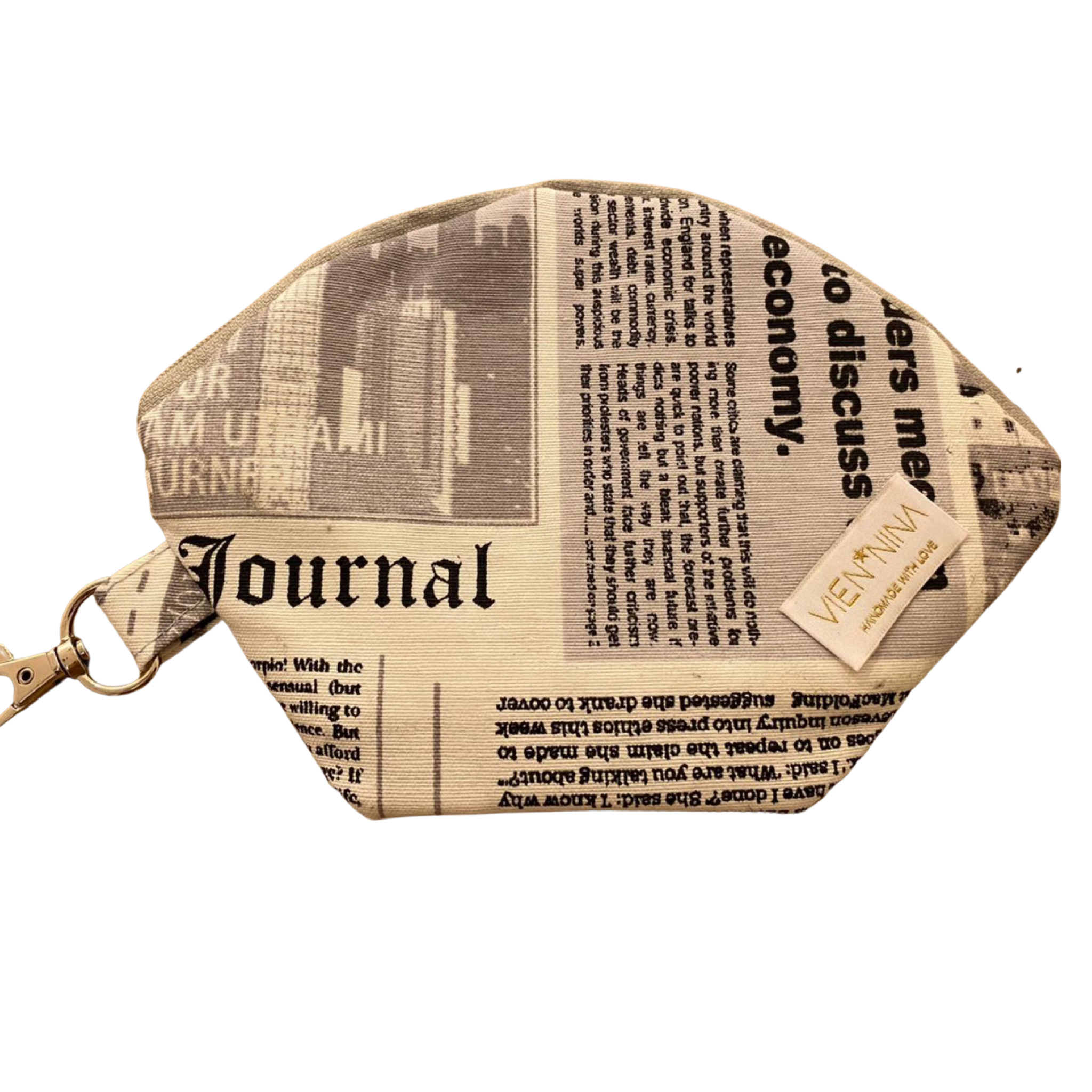 "Handmade Bag for masks  ""NEWSPAPER"""