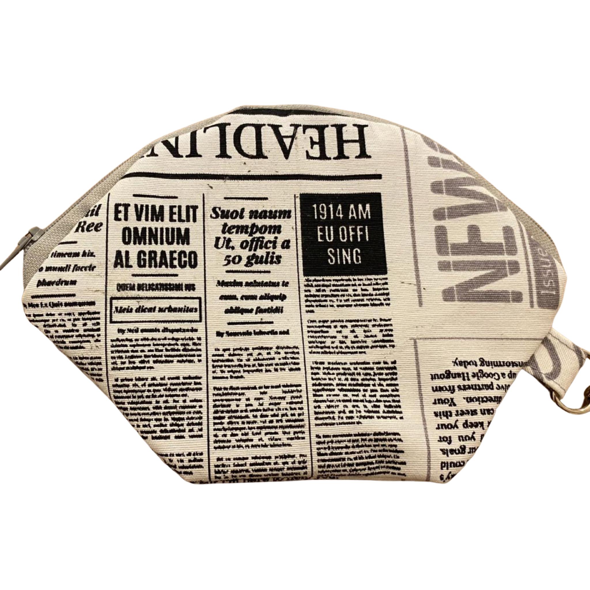 """""""NEWSPAPER"""" handgemachte MASKENTASCHE"""