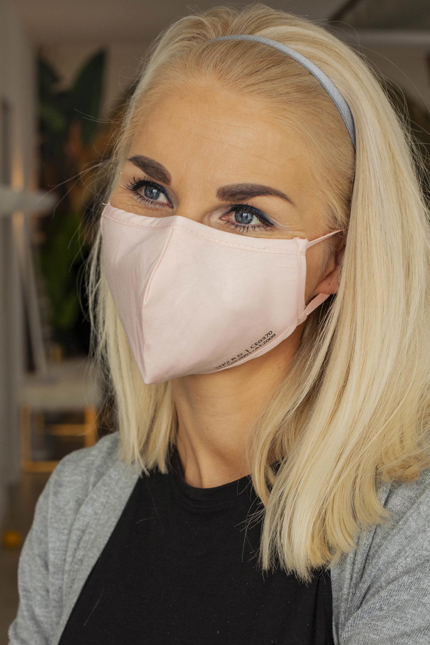 5 pieces of reuseable Nano FFP2 Mask / light pink