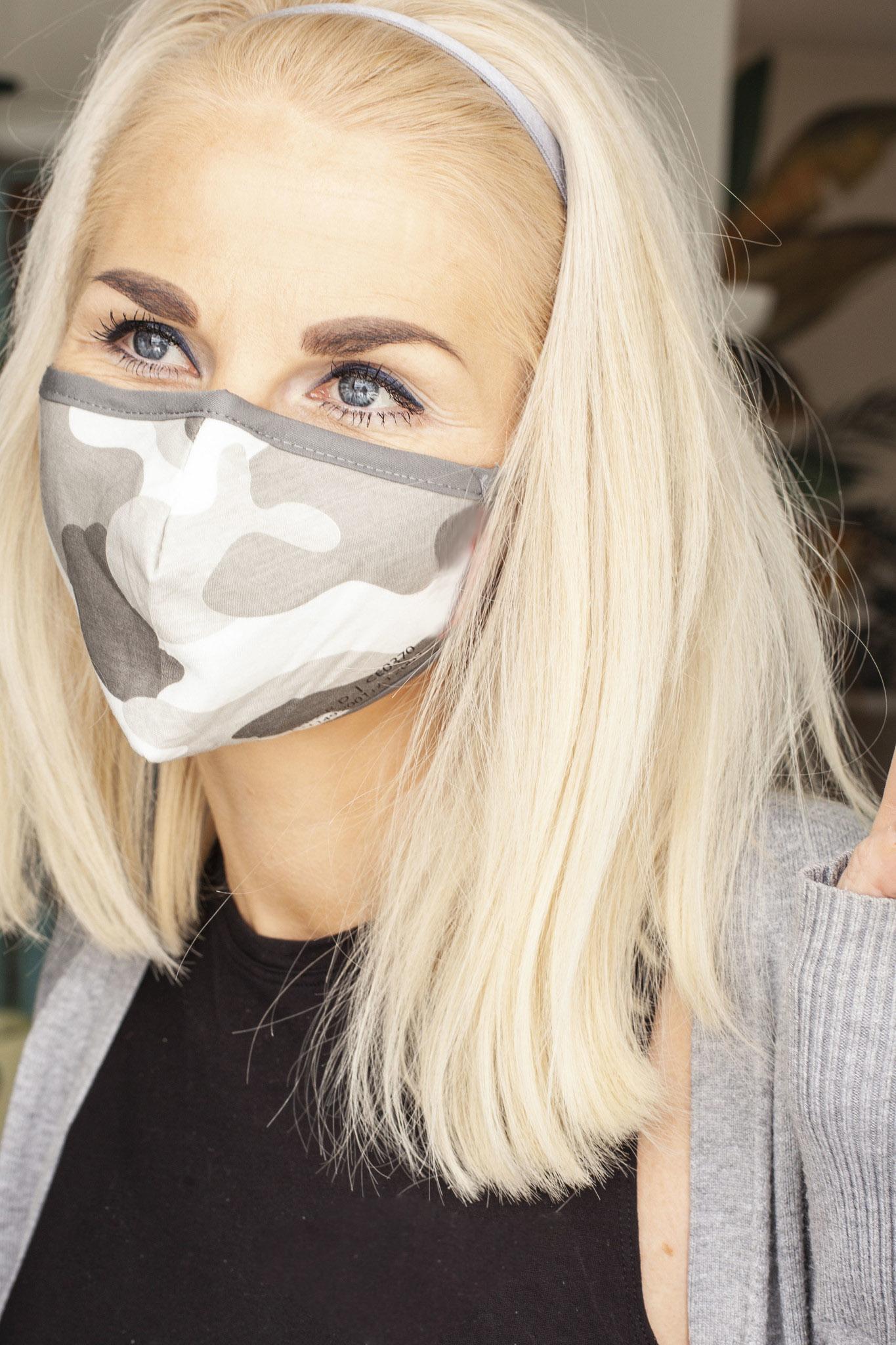 !NEU! wiederverwendbare Nano-FFP2-Maske /CAMOUFLAGE