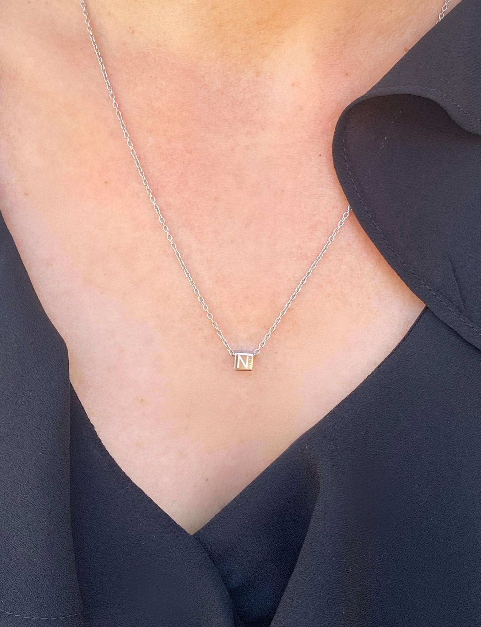 "N*ITIAL  Armband oder Halskette ""M"" silber"