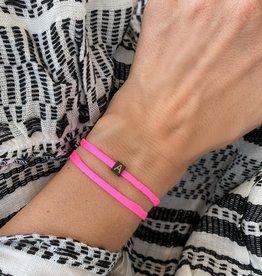 """A"" / N*ITIAL  Armband oder Halskette  schwarz"