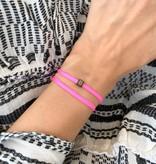 "N*ITIAL  Bracelet or Necklace ""B"" black"