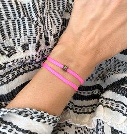 """B"" / N*ITIAL  Armband oder Halskette schwarz"