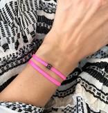 "N*ITIAL  Armband oder Halskette ""C"" schwarz"