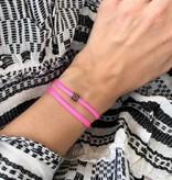 "N*ITIAL  Armband oder Halskette ""D"" schwarz"